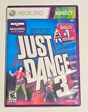 Just Dance 3 Xbox 360 Kinect Game Very Good Music Dancing Party CIB