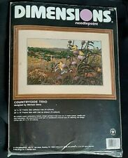 Dimensions Needlepoint Cross stitch Kit 2468 Countryside 1998 Birds Gold Finch