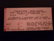 Phoenix vs Montreal Canadiens Ticket November 5 1997 Molson Centre