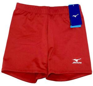 """New W/ Tags Mizuno Women's Vortex 4"""" Inseam Red Volleyball Shorts"""