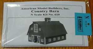 American Model Builders, Inc #619 Country Barn Kit (Laser Kit)