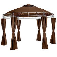 Carpa fiestas y eventos pabellón de lujo Ø350cm jardín tienda de campaña marrón