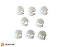 TTCombat Wargames Great for 40k Bone Wound Markers - Ivory Acrylic Skulls x 8