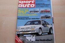 3) Sport Auto 05/1981 - Opel Manta B 400 mit 173PS