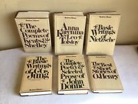 Vintage Mixed Lot Of 6 HCDJ Modern Library Classic Poetry Short Stories