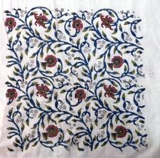 10 Yard Indian Blue Floral Hand Block Print Cotton Fabric Dressmaking Sewing Art