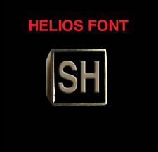 Solid Bronze SH Motorcycle Club Letter biker Ring Helios font Custom size