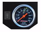 Single Needle Air Gauge Panel 1 Rocker Switch Control 200psi Air Ride Suspension
