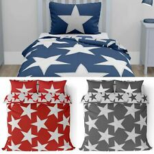 Star Duvet Covers Reversible Kids Stars Print Bedding Teen Boys Girls Quilt Sets
