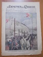 """DOMENICA del CORRIERE 21/1920 La """"Caracciolo varata"""" a Castellammare di Stabia"""