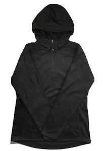 The North Face Boys 1/4 Zip Tech Glacier Fleece Hoodie Jacket Black XL 18/20