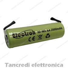BATTERIA RICARICABILE STILO NI-MH AA 1,2V 2000mAh CON LAMELLE A SALDARE 14x50 mm