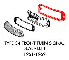 New VW Type 34 Ghia Front Left Turn Signal Seal 1961-1969