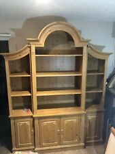 Ethan Allen Large Arched Top Library Cabinet Bookcase Swedish Home