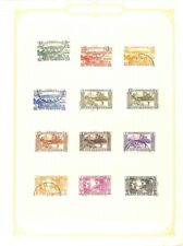 [OP4236] New Hebrides lot of stamps on 12 pages