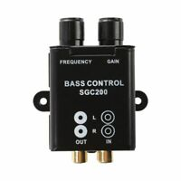 Car Home Amplifier RCA Gain Level Volume Knob Booster Audio Stereo Bass Con S7J9