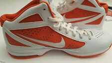 Size 17.5 FLYWIRE NIKE AIRMAX Basketball Men Shoes Basketball White and Orange