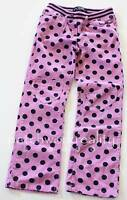 MINI BODEN Pink Navy Blue polka Dot Heart knee Patch Rib Knit Waist Pants Size 9