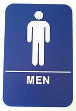 MEN  Blue Sign  ADA Compliant w/Braille Public Accommodation Facilities Sign
