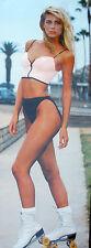 HOT VENICE BEACH ROLLER SKATE BIKINI GIRL 1988 VINTAGE ORIG HUGE PIN UP POSTER