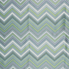 Chevron Zig Zag Green Geometric Modern Embroidered Fabric Drapery Upholstery IL9