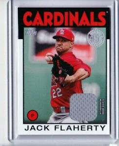 2021 TOPPS S1 JAKE FLAHERTY JERSEY 1986 CARDINALS PD