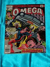 OMEGA THE UNKNOWN # 7, Mar. 1977, JIM MOONEY ART, Very Fine Minus Condition