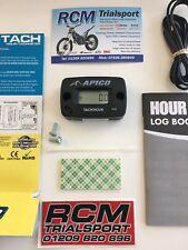 Apico Hour Meter Tachometer Tach RPM MX Enduro Motorcycle ATV 2 /4 STOKE