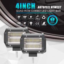 "QUAD ROW 4inch 432W CREE LED Work Light Bars Offroad Flood light Driving Lamp 5"""