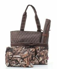 Natural Brown Camo Quilted Diaper Baby Bag - Camouflage