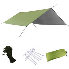 Waterproof Tent Shelter Rain Tarp Canopy Portable Double Hammock Outdoor Camping