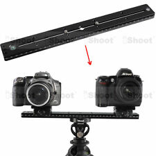 35cm Lengthened Quick Release Plate for ARCA-SWISS Tripod Ball Head & 2 Camera