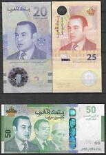 Morocco- All 3 Commemorative Banknotes P-72-73-New - UNC**-