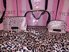 Victorias Secret Cosmetic Travel Bags Cases Trio Pink & Gold