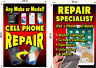YOU GET 2 PERFORATED WINDOW VINYL DECALS  2' X  3' CELL PHONE REPAIR UNLOCKING