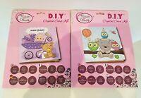 Craft Buddy D.I.Y. Crystal Card Kit X 2 New Baby/ Teddy-Owls