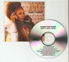"""JANET JACKSON FT DADDY YANKEE """"MADE FOR NOW"""" PART 2 - NEW 11 TRACK  CD PROMO"""