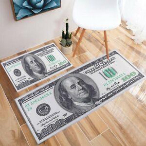 Rugs One Hundred Dollar 100 Bill Print Non-Slip Area Carpet Mat Money-Runner USA