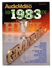 AUDIO VIDEO INTERNACIONAL - HI FI GRAN PRIX  NOVIEMBRE 1983   VINTAGE