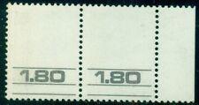 ISRAEL 585v, 1.80 pair with VIOLET BLUE MISSING ERROR, og, NH, VF