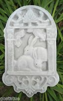 Plaster concrete abs plastic rabbit plaque mold bunny mould