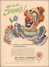 1950 Vintage ad for The Texaco Company`Art Clown Flower Emblem(052317)