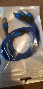 3 in 1 Multi USB Charger Charging Fast Cable Cord For Apple Iphone Samsung HTC