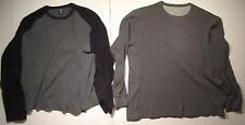 """LOT OF 2 """"GAP"""" LONG SLEEVE SWEATERS 100% COTTON SIZE: XL COLOR: GRAY/BLACK"""