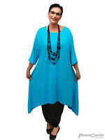LAGENLOOK Bogen Long Shirt Top Tunika ❹Fb L-XL-XXL-XXXL 44 46 48 50 52 54 56 58