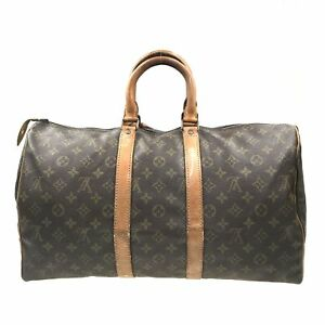 100% Authentic Louis Vuitton Monogram Keepall 45 M41428 [Used] {09-0385}