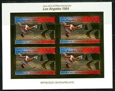 Centre Africaine 1982 Olympic games JO Los Angeles Gold foil Or Michel 859 B