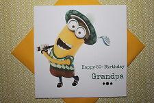 Hecho a mano personalizado Golf Minion Tarjeta De Cumpleaños 3 4 5 6 7 8 cualquier edad papá Grandad
