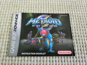 Metroid Fusion - Authentic - Nintendo Game Boy Advance - Manual Only!