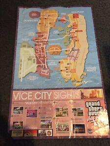 GTA- Grand Theft Auto Vice City Map/Poster
